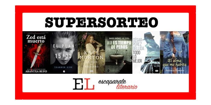 Supersorteo de libros en Escaparate Literario